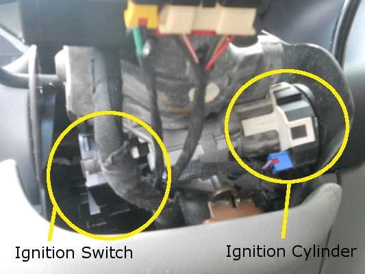 Cylinder Switch on Dodge Caravan Ignition Switch Replacement