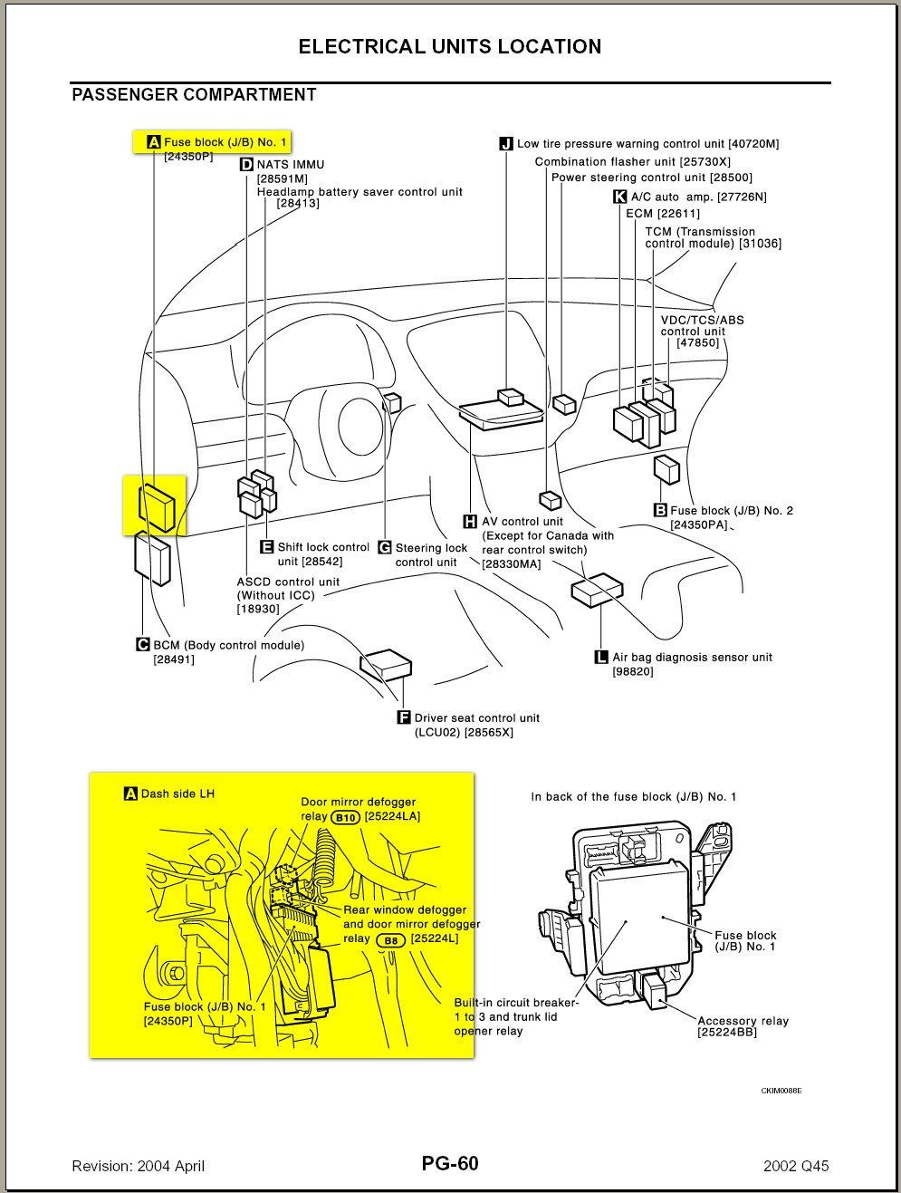1998 Infiniti Q45 Fuse Box Electrical Wiring Diagrams Toyota Side Mirror Diagram Infinity Q45t Detailed M45