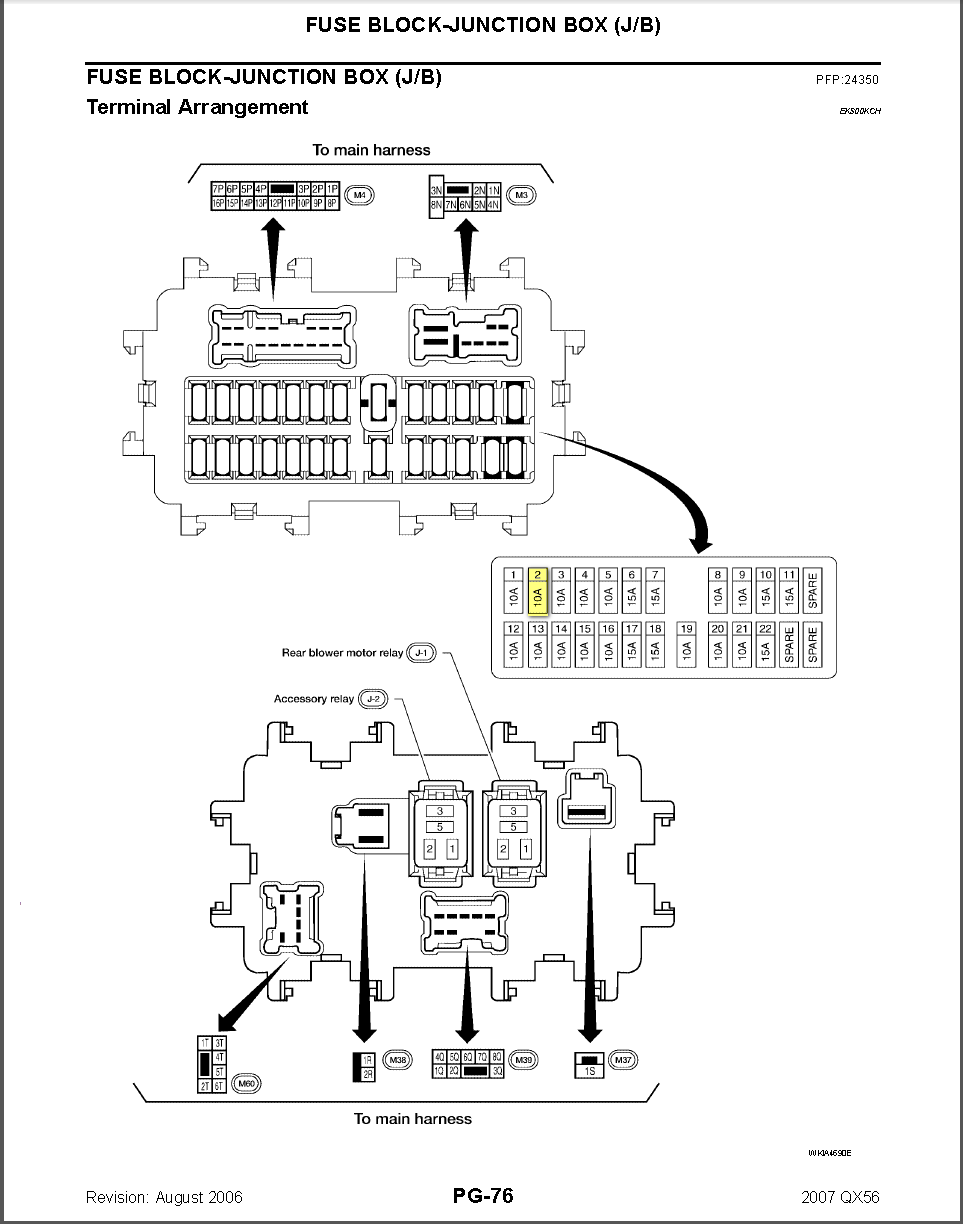 infiniti 2006 fuse diagram i have a 2006 infiniti qx56. i got in my vehicle the other ... #5