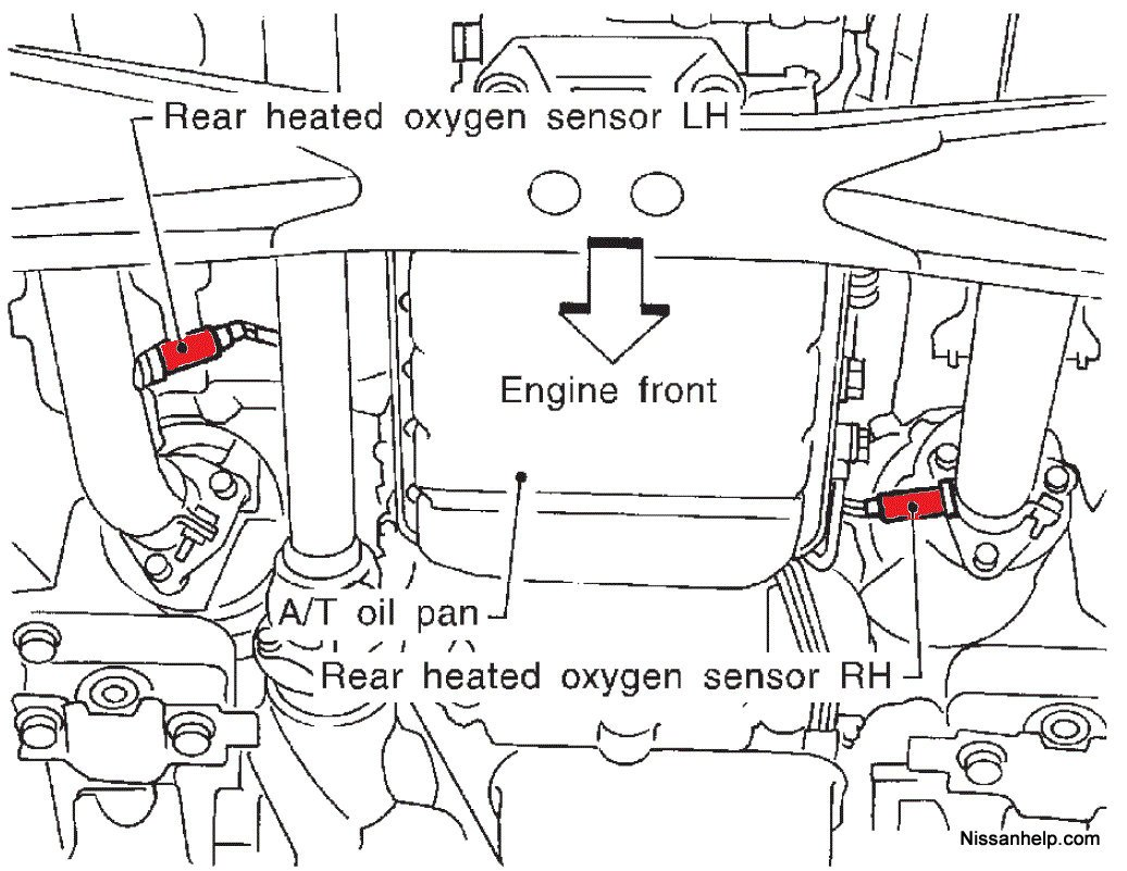 P0325 nissan besides Nissan Fuel Filter Location in addition 26627 98 Sentra Se 2 0 Didnt Pass Smog additionally Chevy Astro Engine Diagram furthermore RepairGuideContent. on 98 nissan altima knock sensor location