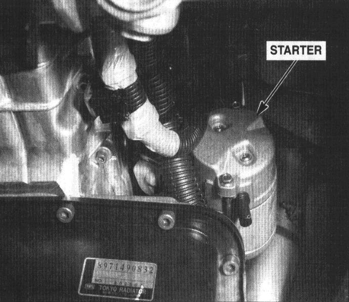 Is it hard to change a    starter    on a 2000    rodeo