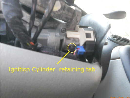 How do I replace the ignition barrel in a chrysler neon year