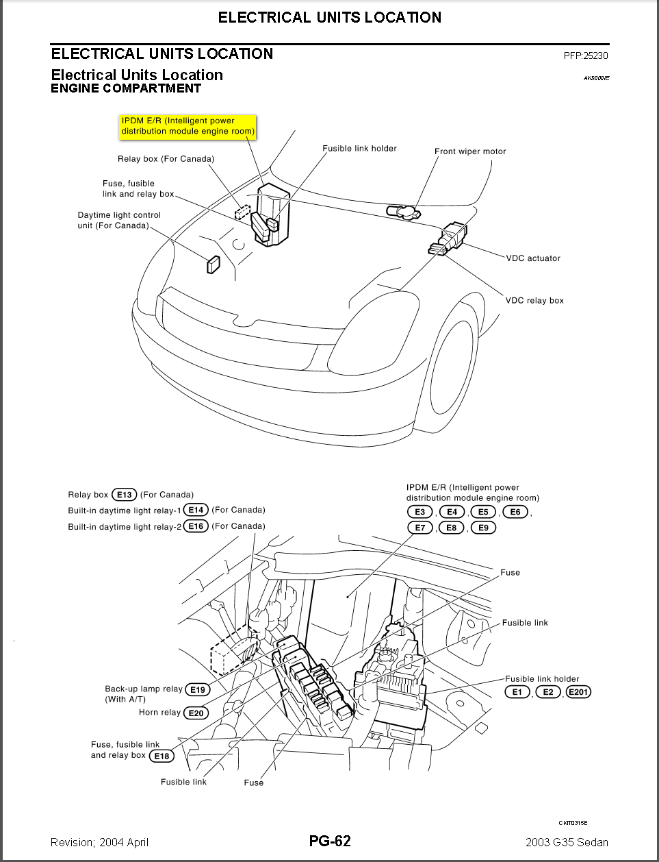 35 2004 Infiniti G35 Fuse Box Diagram