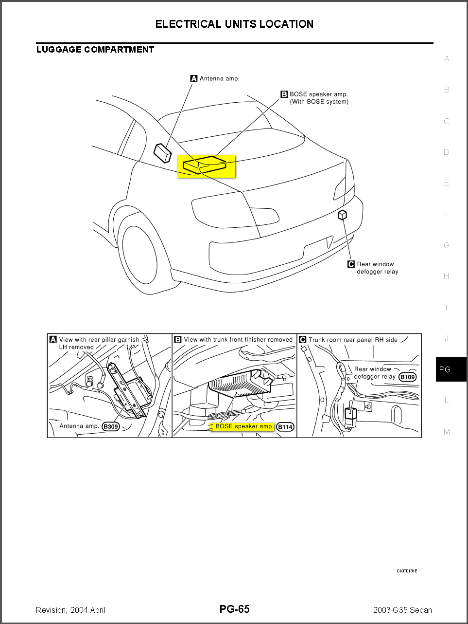 03 g35 bose stereo no volume but everything else works? infiniti g35 coupe wiring diagram #6