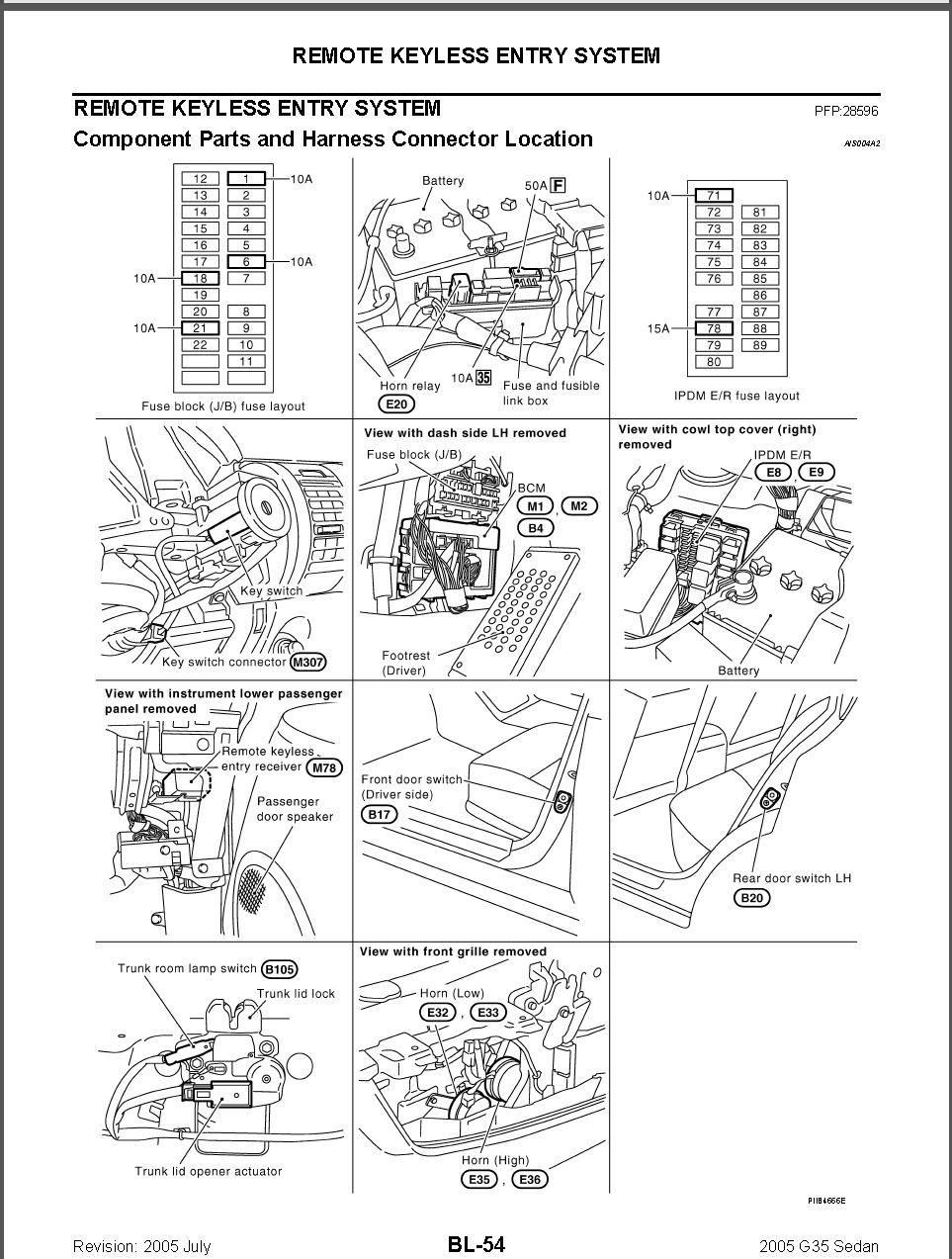 2005 Infiniti G35 Engine Diagram Free Download Wiring Diagrams 2007 Sedan G35x Intelligent Key Doesnt Work Properly What Can Be 24 At Firing Order