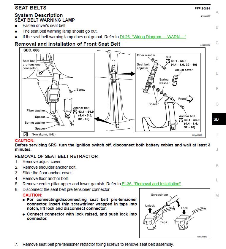 i need to change the seat belt stalk on the front passenger 2010 Kia Soul Serpentine Belt Diagram