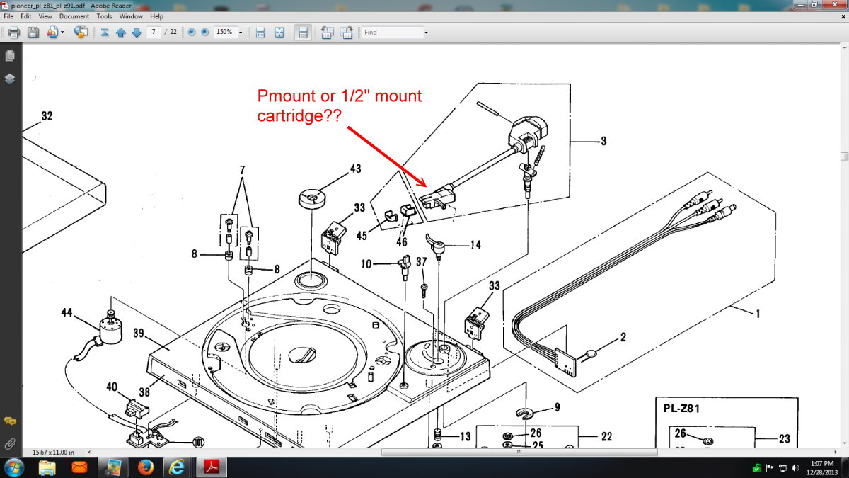 Have You A Drive Belt For Pioneer Turntable Model Pl