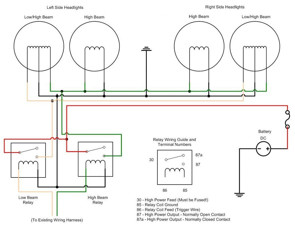 Parallel Battery Wiring Diagram Ask Answer Series I Have A 2002 Cavalier Installed Projection Headlights But The High Beams Dont Work 12 Volt Batteries In